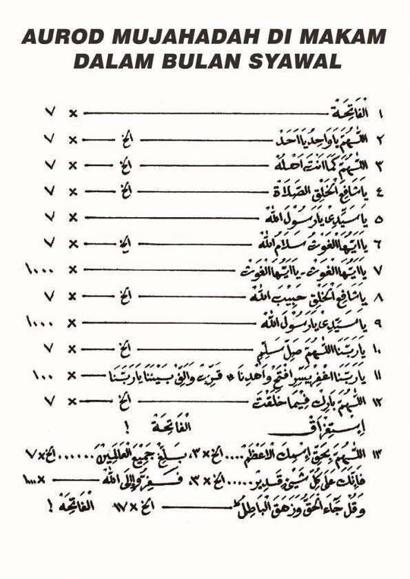 Mujahadah Wahidiyah | Mujahadah di Makam dalam Bulan Syawal 1440 H